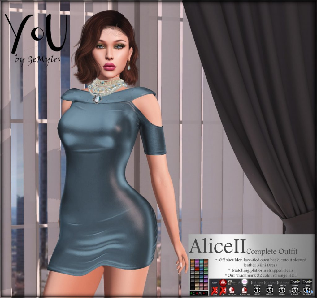 Alice II Cut Out Dress & Heels February 2020 Group Gift by YoU by GeMyles - Teleport Hub - teleporthub.com