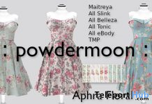 Aphra Floral Dress Pack Promo by powdermoon - Teleport Hub - teleporthub.com