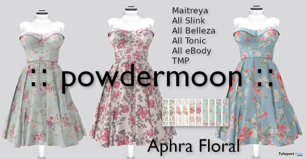 Aphra Floral Dress Pack Promo by powdermoon - Teleport Hub - teleporthub.com
