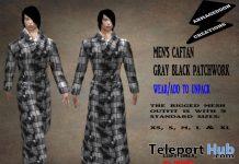 Men's Caftan Gray Black Patchwork February 2020 Group Gift by Armageddon Creations - Teleport Hub - teleporthub.com