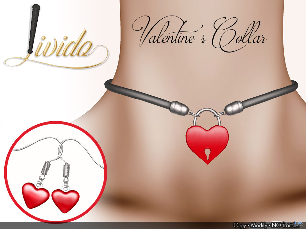 Valentine's Collar February 2020 Group Gift by Livido - Teleport Hub - teleporthub.com