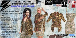 Rebel Outfit Padlock Edition February 2020 Group Gift by Armageddon Creations - Teleport Hub - teleporthub.com