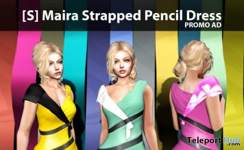 New Release: [S] Maira Strapped Pencil Dress by [satus Inc] - Teleport Hub - teleporthub.com