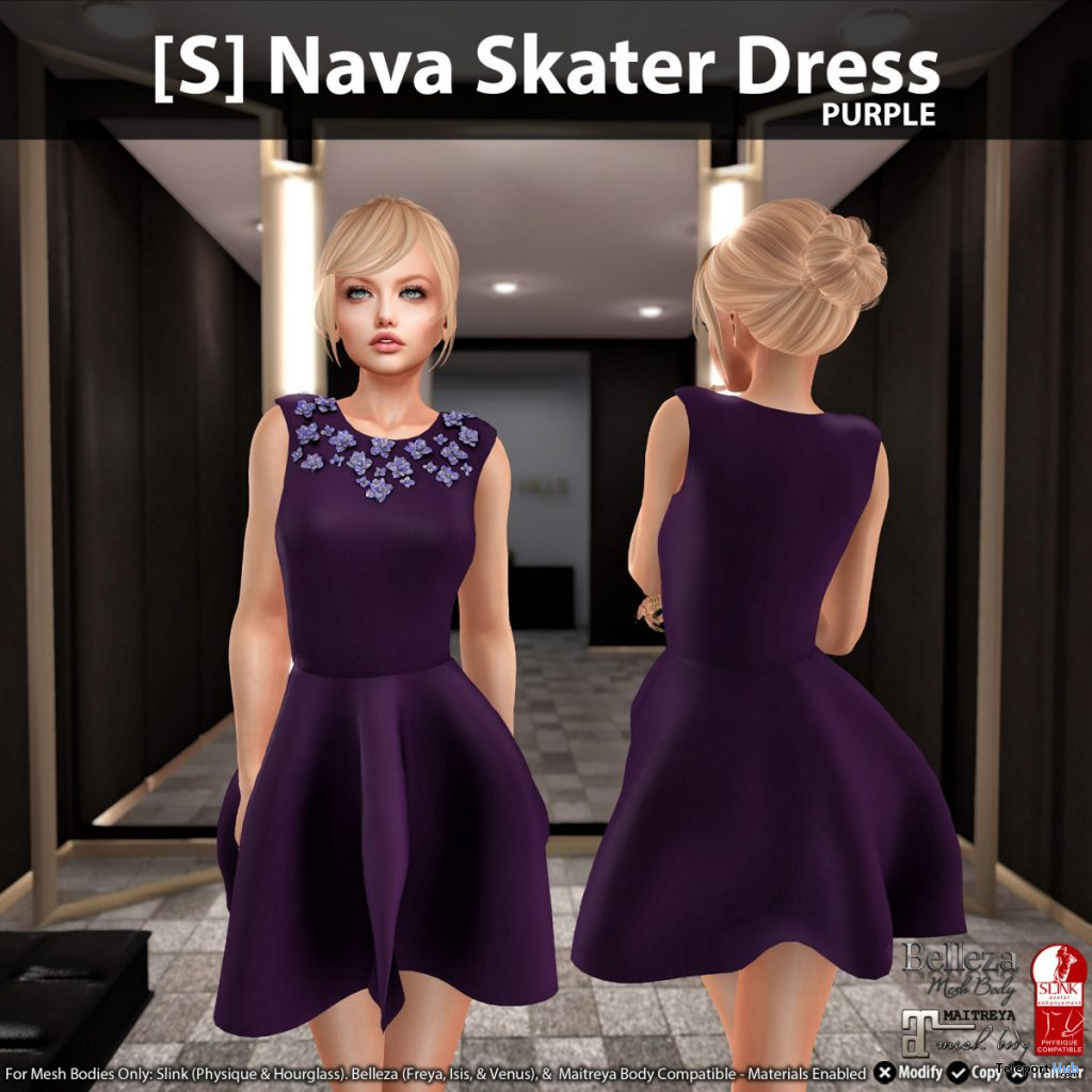 New Release: [S] Nava Skater Dress by [satus Inc] - Teleport Hub - teleporthub.com