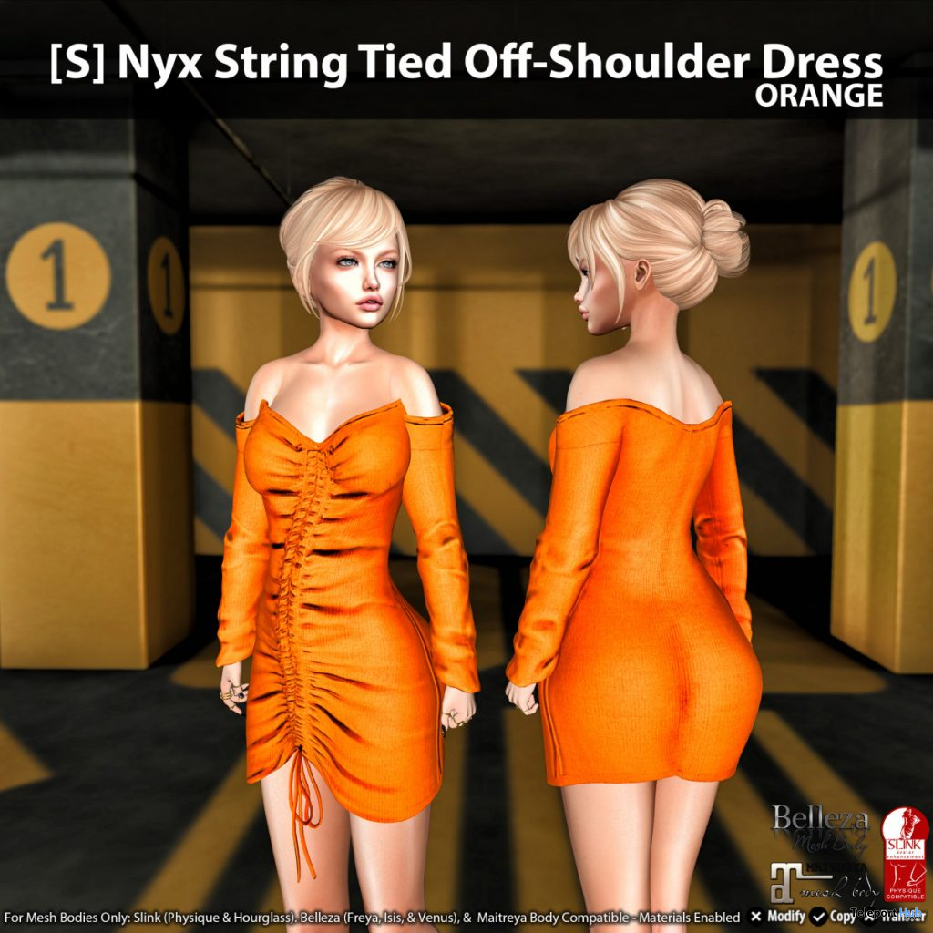 New Release: [S] Nyx String Tied Off-Shoulder Dress by [satus Inc] - Teleport Hub - teleporthub.com