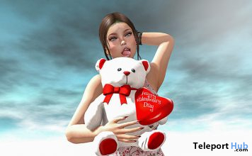 Happy Valentine's Day II Female Pose February 2020 Group Gift by Angel's Art Pose - Teleport Hub - teleporthub.com