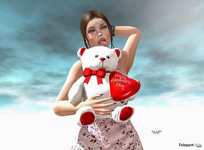 Happy Valentine's Day II Female Pose February 2020 Group Gift by Angel's Art Pose - Teleport Hub - teleporthub.com