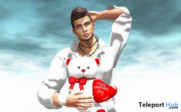 Happy Valentine's Day II Male Pose February 2020 Gift by Angel's Art Pose - Teleport Hub - teleporthub.com