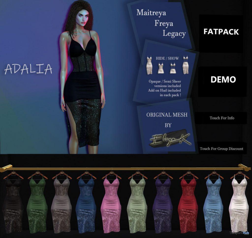 New Release: Adalia Dress by Eliya.K @ Shiny Shabby February 2020 - Teleport Hub - teleporthub.com