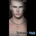 Silver Necklace For Men February 2020 Group Gift by amias - Teleport Hub - teleporthub.com