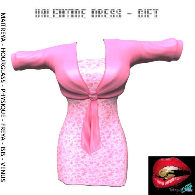 Valentine Dress February 2020 Group Gift by Loca Como Tu Madre- Teleport Hub - teleporthub.com