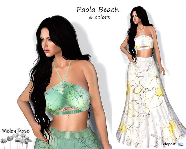 Paola Beach Outfit 10L Promo by Melon Rose - Teleport Hub - teleporthub.com