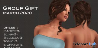 Ribbon Mini Dress March 2020 Group Gift by Selene Creations - Teleport Hub - teleporthub.com