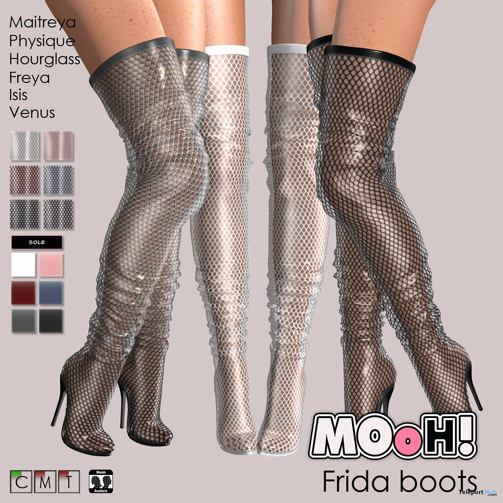 Frida Boots Fatpack March 2020 Group Gift by MOoH! - Teleport Hub - teleporthub.com