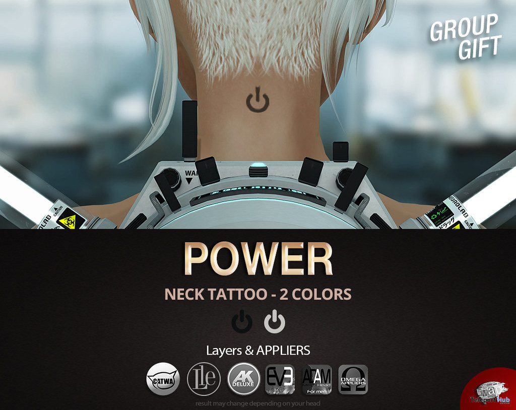 Power Neck Tattoo March 2020 Group Gift by Mad' - Teleport Hub - teleporthub.com