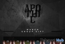 Eyes Applier for Genus Mesh Head March 2020 Group Gift by Apothic - Teleport Hub - teleporthub.com