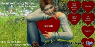 Heartwarming Notes March 2020 Subscriber Gift by PosEd Poses - Teleport Hub - teleporthub.com
