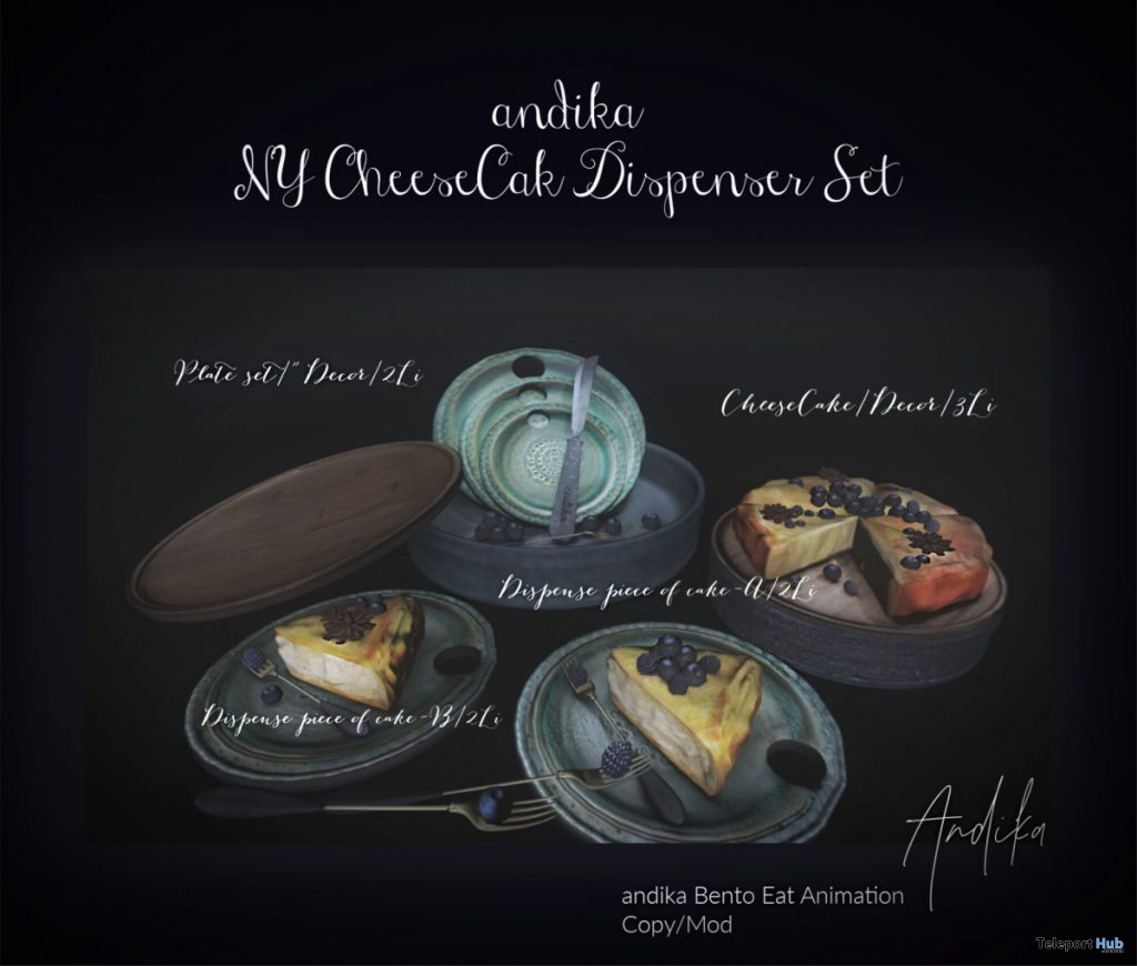 NY Cheesecake Dispenser Set March 2020 Group Gift by Andika - Teleport Hub - teleporthub.com
