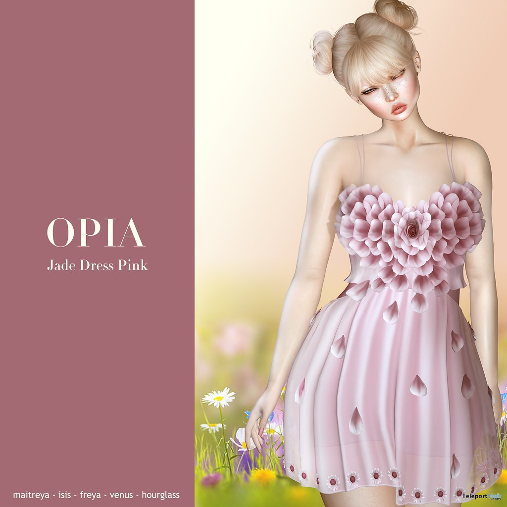 Jade Dress Pink March 2020 Group Gift by OPIA - Teleport Hub - teleporthub.com