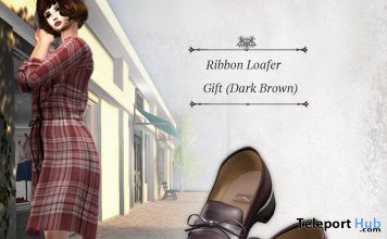 Ribbon Loafers Dark Brown March 2020 Group Gift by S@BBiA - Teleport Hub - teleporthub.com
