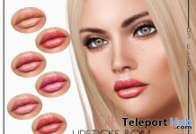 Lipsticks BOM For Lelutka Evolution Mesh Head March 2020 Gift by DS'ELLES - Teleport Hub - teleporthub.com