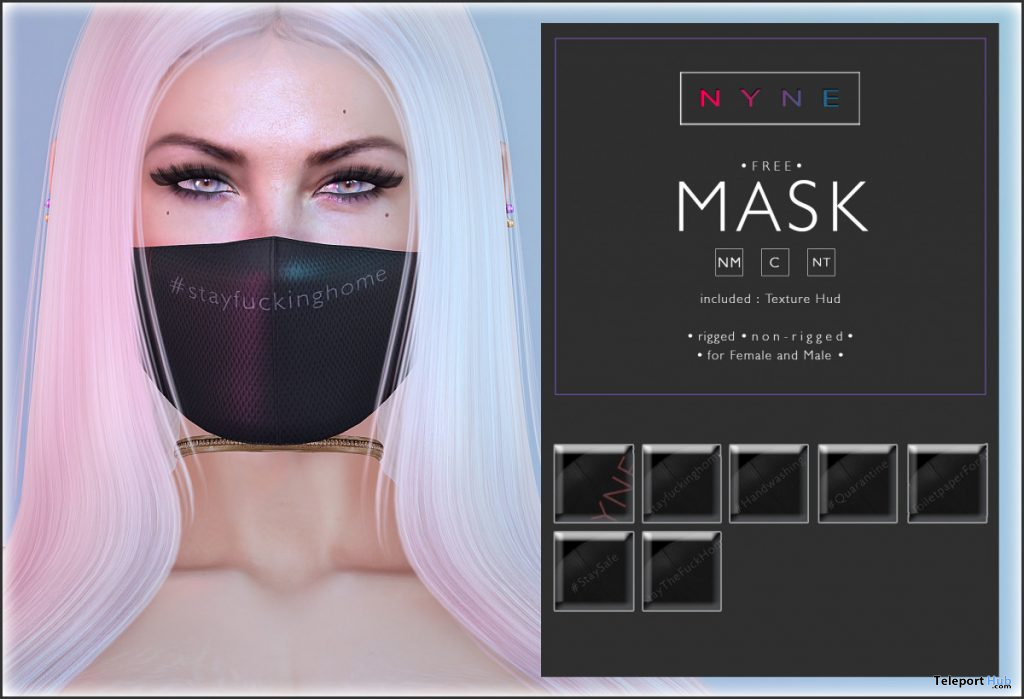 Face Mask March 2020 Gift by NYNE - Teleport Hub - teleporthub.com