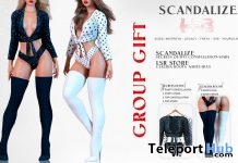 Secrets Outfit Constellation Stars & Claudia Boots White-Blue March 2020 Group Gift by SCANDALIZE x LSR - Teleport Hub - teleporthub.com