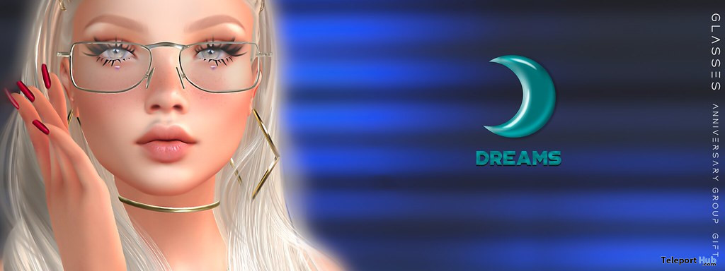 Glasses April 2020 Anniversary Group Gift by DREAMS - Teleport Hub - teleporthub.com