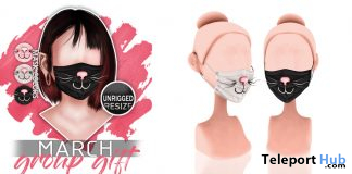 Kittie Face Mask March 2020 Group Gift by Mug - Teleport Hub - teleporthub.com