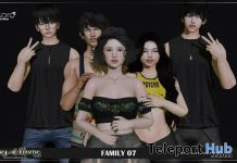 Family 07 Group Pose April 2020 Gift by Kokoro Poses - Teleport Hub - teleporthub.com