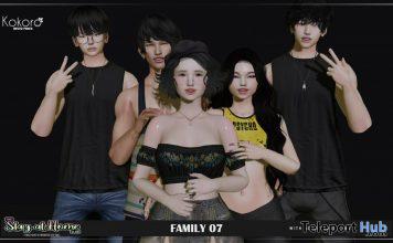 Family 07 Group Pose April 2020 Gift by Kokoro Poses - Teleport Hub - teleporthub.com
