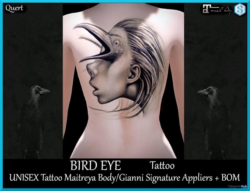 Bird Eye Tattoo March 2020 Group Gift by QUERT - Teleport Hub - teleporthub.com