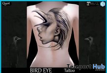 Bird Eye Tattoo March 2020 Group Gift by QUERT - Teleport Hub - teleporthub.com