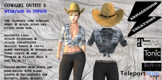 Cowgirl Outfit March 2020 Group Gift by Armageddon Creations - Teleport Hub - teleporthub.com