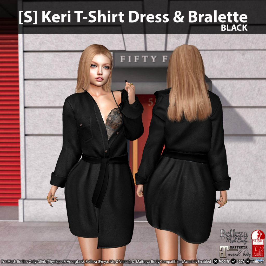 New Release: [S] Keri T-Shirt Dress & Bralette by [satus Inc] - Teleport Hub - teleporthub.com