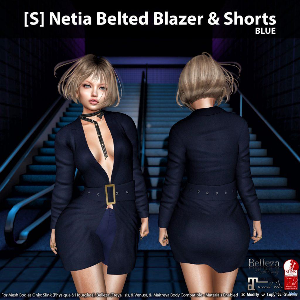 New Release: [S] Netia Belted Blazer & Shorts by [satus Inc] - Teleport Hub - teleporthub.com