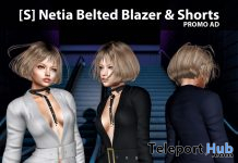 New Release: [S] Netia Belted Blazer & Shorts by [satus Inc] - Teleport Hub - teleporthub.com