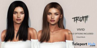 Vivid Hair Fatpack With Style HUD Group Gift by TRUTH HAIR - Teleport Hub - teleporthub.com