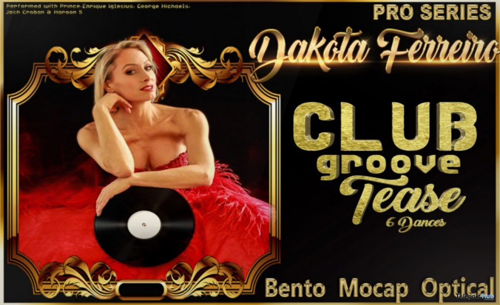 New Release: Dakota Club Groove Tease Dance Pack by Paragon Dance Animations - Teleport Hub - teleporthub.com