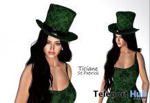 Ticiane St. Patrick Dress & Hat March 2020 Gift by Melon Rose - Teleport Hub - teleporthub.com