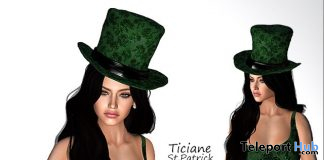 Ticiane St. Patrick Dress & Hat March 2020 Gift by Melon Rose - Teleport Hub - teleporthub.com