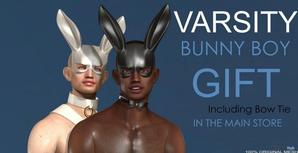 Bunny Body Mask & Bow Tie April 2020 Group Gift by VARSITY - Teleport Hub - teleporthub.com