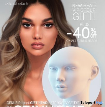 Genus Mesh Head Strong Face April 2020 Group Gift by Genus Project- Teleport Hub - teleporthub.com