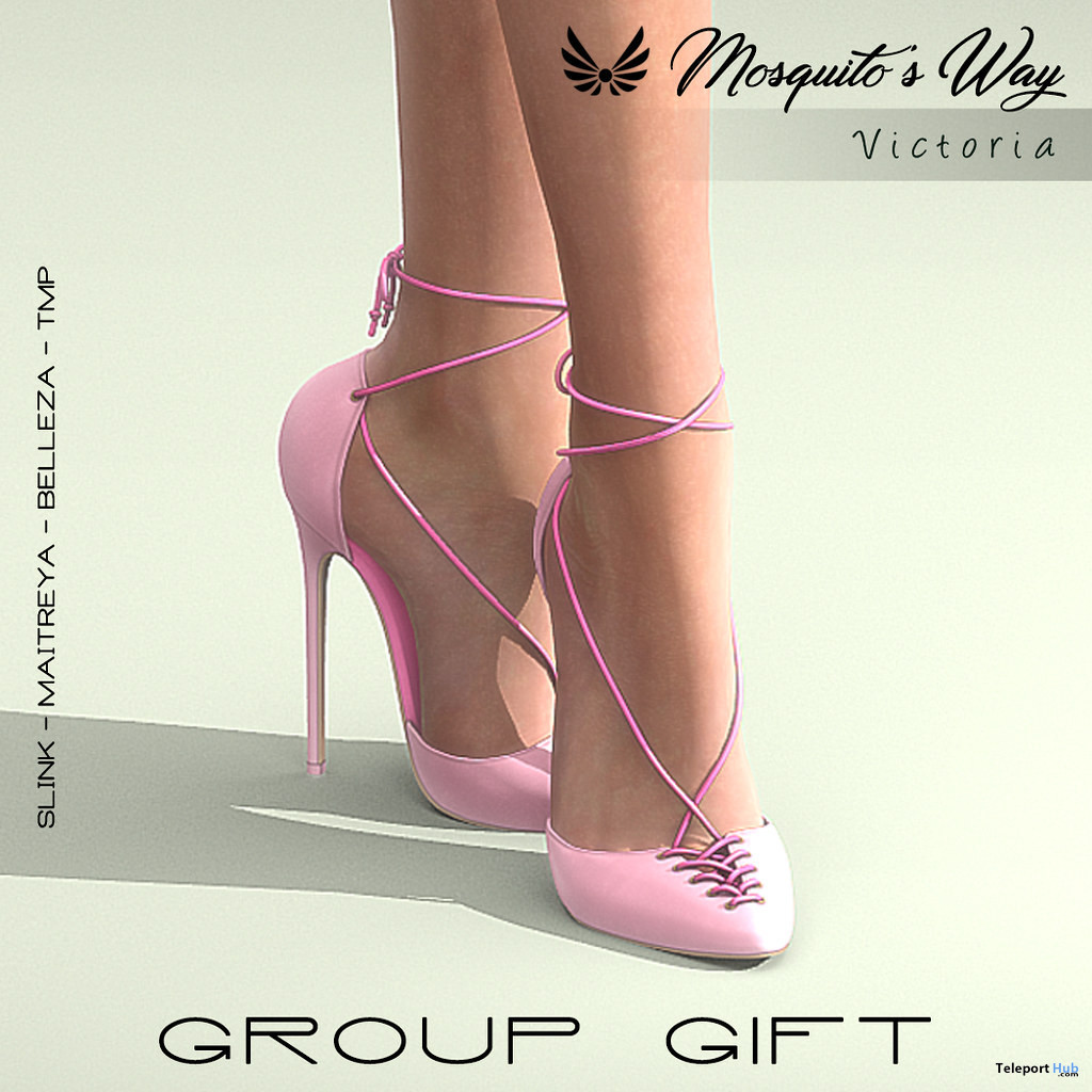 Victoria Heels April 2020 Group Gift by Mosquito's Way - Teleport Hub - teleporthub.com