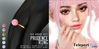 Prudence Ring April 2020 Group Gift by MICHAN - Teleport Hub - teleporthub.com