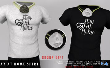 Stay At Home Shirt & N95 Mask April 2020 Group Gift by LOB - Teleport Hub - teleporthub.com