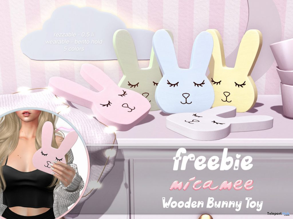 Wooden Bunny Toy April 2020 Gift by micamee - Teleport Hub - teleporthub.com