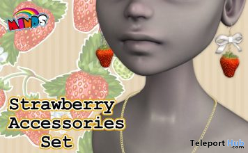 Strawberry Accessories Set April 2020 Gift by MINDS - Teleport Hub - teleporthub.com