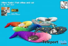 Fish Pillow And Cat April 2020 Gift by Maru Kado - Teleport Hub - teleporthub.com