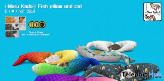Fish Pillow And Cat April 2020 Gift by Maru Kado - Teleport Hub - teleporthub.com